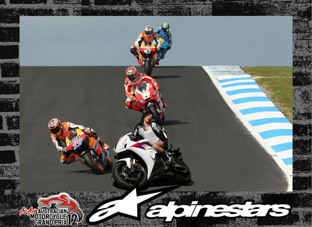 Alpinestars motogp green screen photos