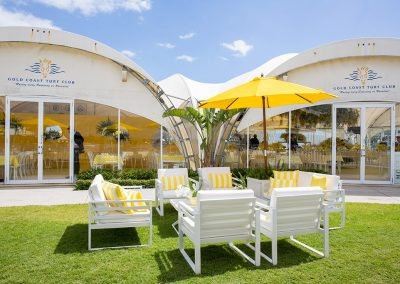 Magic Millions outdoor seating