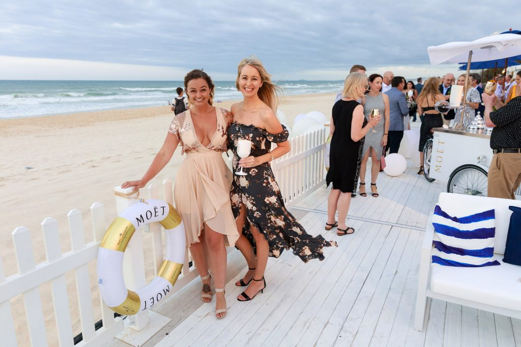 Couple at party on Gold Coast beach