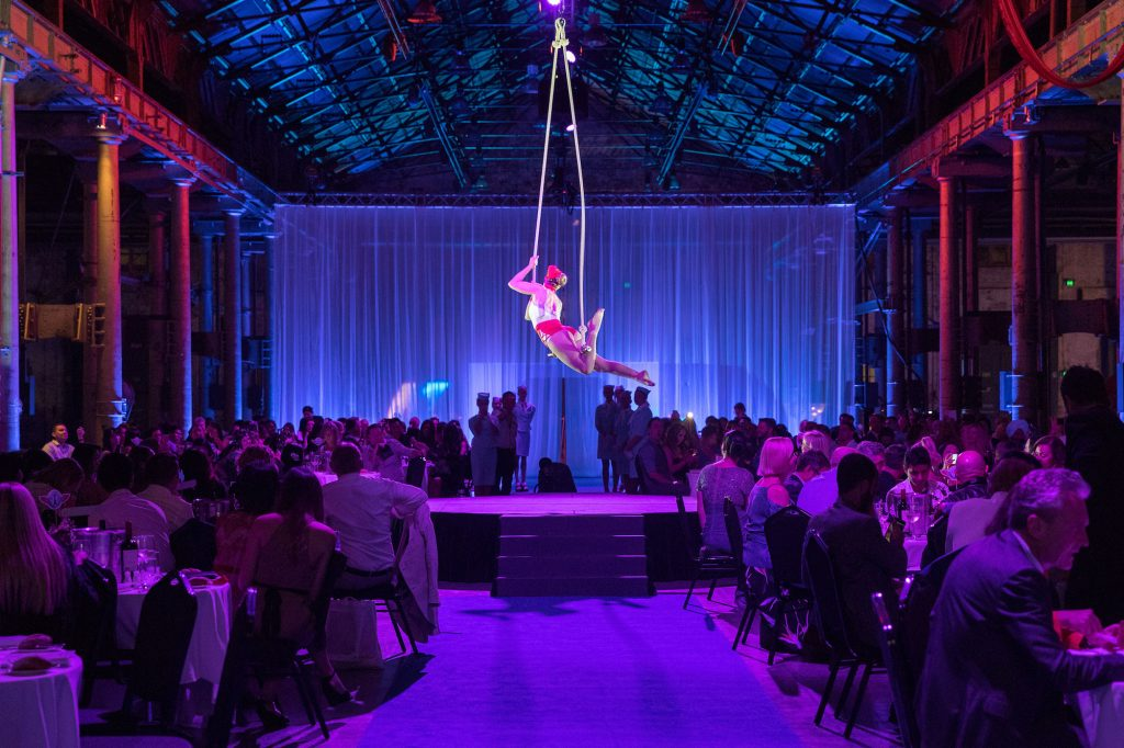 Aerial artist at a event Sydney event