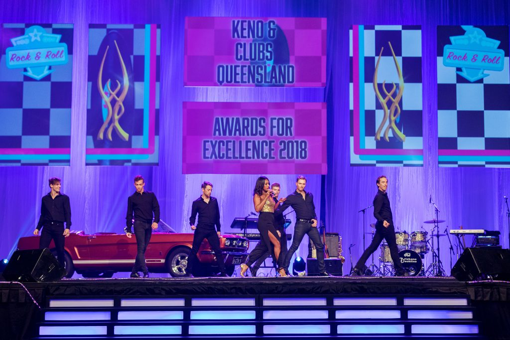 Paulini Curuenavuli performing at Keno and Clubs Queensland Awards For Excellence 2018 - Brisbane Convention & Exhibition Centre - Brisbane - Queensland (QLD) - Australia - 2018