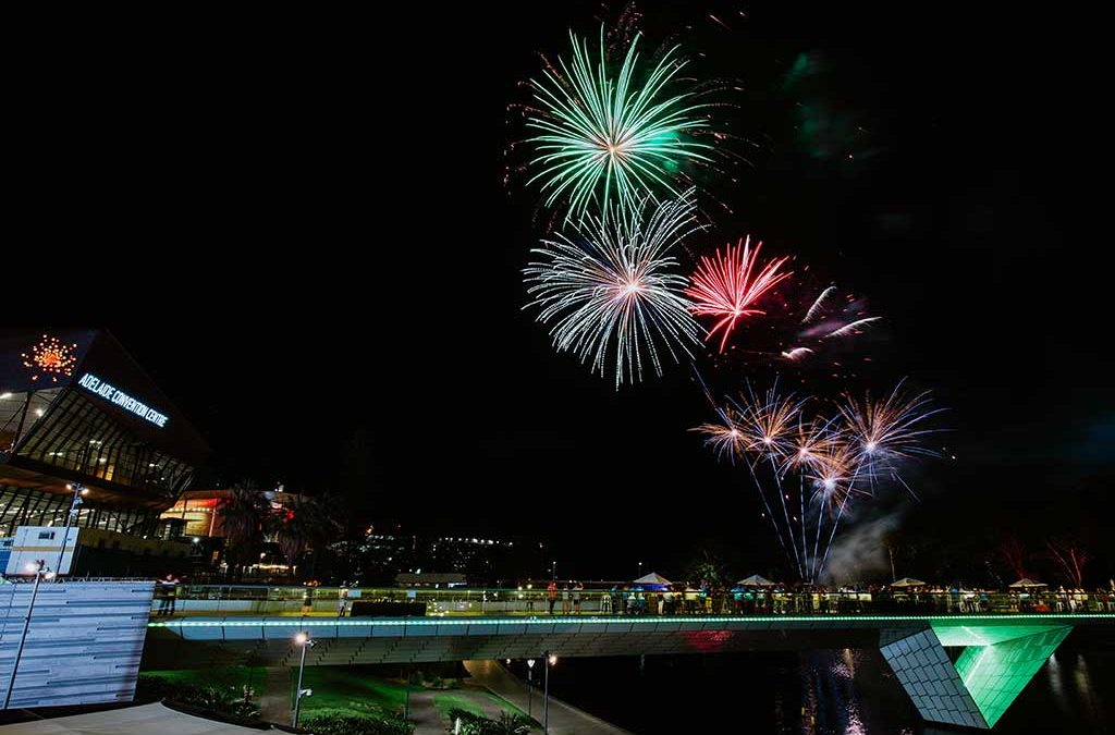 Adelaide Convention Centre river fireworks
