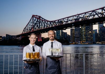 wait staff at Howard Smith Wharves
